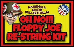 (25 GROUP LOT) Oh No!!! Floppy Joe Re-String Kits Restring GI JOE ACTION MAN