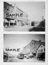 NORTHPORT LONG ISLAND NY MAIN ST TROLLEY 1909 East&West Views 2 PHOTOS Free Ship
