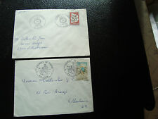 FRANCE - 2 enveloppes 1972 1974 (cy23) french