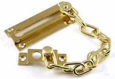 Solid Brass Door security chain / slide body / keeper / fixing screws lock guard
