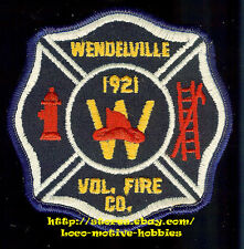 LMH Patch   WENDELVILLE VOLUNTEER FIRE DEPARTMENT Co. Tonowanda New York WFC VFD