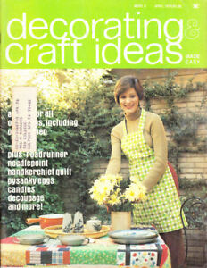 Craft Books: #1461 Decorating & Craft Ideas April 1975