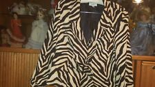 ISABELLA SUITS BLAZER/SUIT JACKET SIZE 16 ANIMAL PRINT LINED SNAP/BUCKLE FRONT