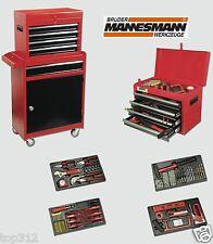 Werkstattwagen gefüllt Werkzeug 4+1 Schubladen Werkzeugwagen Rollwagen Schrank