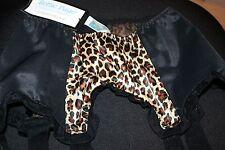 Bettie Page Inspired Secrets in Lace Leopard & Black Garter Belt-M-New w/Tags
