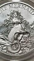 Mermaid 1 oz .999 Silver round Siren Pirate little mermaid ariel sea maiden NEW!