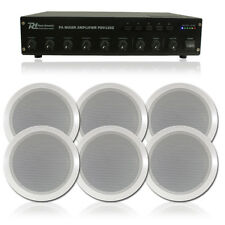 6x Bosch Background Music Ceiling Speakers + 100v Line Amplifier System 36W