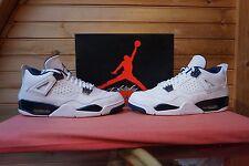 Nike Air Jordan 4 Retro LS White Legend Blue Midnight Navy Size 10.5 (2112)