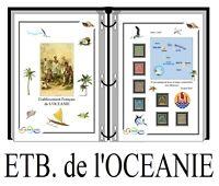 Album de timbres à imprimer Etablissements de l'OCEANIE