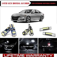For 2018-2019 Honda Accord Interior SMD LED Lights+Reverse+Vanity+Map+Dome Lamps