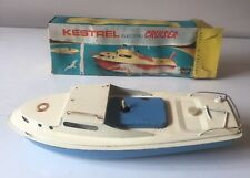 SUTCLIFFE TINPLATE KESTREL BATTERY OPERATED ELECTRIC CRUISER BOAT BOXED WORKING