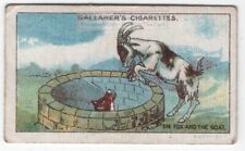 The Fox And The Goat Aesop's Fable Moral Story 1920s Ad Trade Card