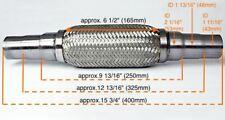 Für Suzuki Uni Flexrohr Flexstück Flammrohr Hosenrohr Auspuff 45x48x55 400MM-