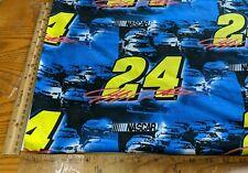 "RARE! 2006 NASCAR RACING RACE CAR #24 JEFF GORDON COTTON FABRIC BY 1/2 YD 44""W"