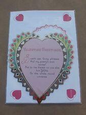 NEW Vintage Look Valentine Die-Cut Card Laughing Elephant Art Deco Heart Poem