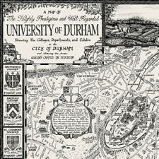 The University of Durham Map - Fine Art Prints by Manuscript Maps