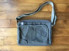 """Case Logic Grey Red lining 15"""" Laptop Computer Bag Briefcase - Soft Sided #275"""