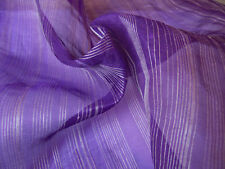 100% Silk Organza Purple Dress Craft Fabric Material