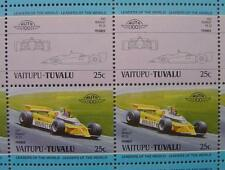 1981 RENAULT RE20 Alain Prost Car 50-Stamp Sheet / Auto 100 Leaders of the World