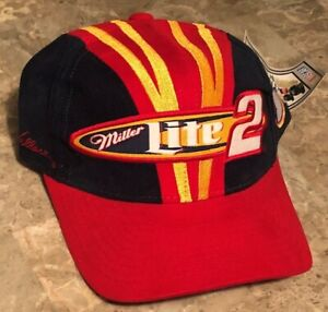 Rusty Wallace #2 Miller Lite Racing Team Hat Chase Authentics Nascar