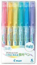 Pilot Highlighter Frixion Light, 6 Soft Color Set (SFL60SL6CS)