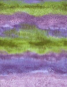 PN002 Willow Purple / Green Hoffman Fabric
