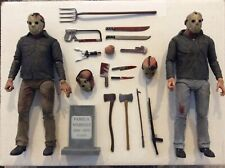 NECA Friday The 13th Ultimate Part 3 & Part 4 Jason Voorhees 7?Action Figure Lot