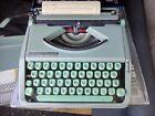 HERMES+ROCKET+TYPEWRITER+SEAFOAM+GREEN+1965+WITH+BOOKLET+WORKING