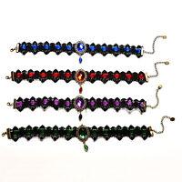 Lace Gemstone Gothic Victorian Choker Collar Necklace Pendant Punk CosplayCSH