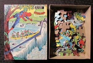 1988 AMAZING SPIDER-MAN Rainbow Works 63-Piece Puzzle Complete VF/FN