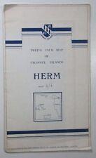 1966 zwölf Zoll Karte von Kanalinseln-Hermès-von BKS Umfrage N Irland