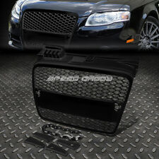 FRONT UPPER BUMPER/HOOD HONEYCOMB MESH ABS GRILL/GRILLE/FRAME 06-08 AUDI A4 B7