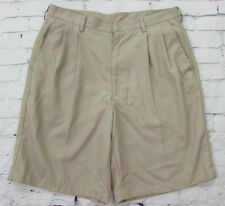 Men's Nike Dri-Fit Golf Shorts Pleated Front Beige Brown Size 32