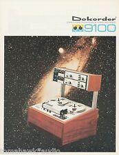 Dokorder 9100 Original Tape Deck Brochure