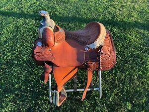 "Billy Cook Roping Saddle 16"" Oklahoma"