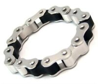 Motorcycle Chain Bracelet Biker Stainless Surgical Steel 8-3/8 inches