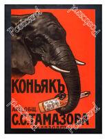 Historic Cognac of the S.S.Tamazov company, 1900 Advertising Postcard