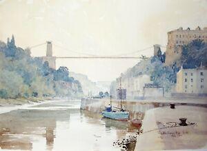 Mark Gibbons (b.1949) Contemporary Watercolour Clifton Suspension Bridge Bristol