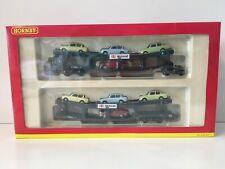 Hornby R6397 OO GAUGE CAR TRANSPORTER INCLUDING 8 CARS (set 1)