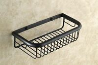 300mm Oil Rubbed Brass Wall Mount Shower Caddy Wire Basket Storage 8ba522