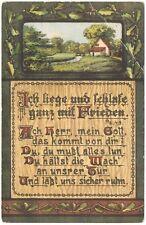"""Ansichtskarte - """"Ich liege und schlafe ganz mit Frieden"""" - Gedicht - Spruch"""