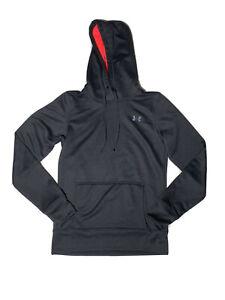 Under Armour All Season Gear Hoodie Small Semi Fitted Sweatshirt Black/Pink