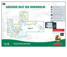 DK Satz 4, Ostsee - Dänemark, Großer Belt - Bornholm # inkl. digitalen Seekarten