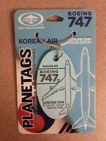 Boeing 747 Korean Air Plane Tag / Planetags - Free Shipping - Beautiful color!