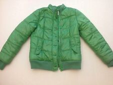 Justice Girls Green Puffer Puffy Jacket - Size 16