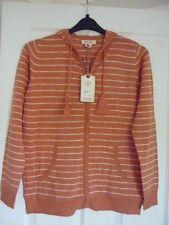 Fat Face Steph Tangerine Stripe Hoody Sweatshirt Jacket UK 12 EUR 40 US 8.