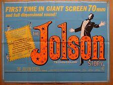 THE JOLSON STORY (1946) RR - original UK quad film/movie poster, Al Jolson
