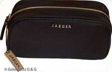 JAEGER Women's Large Black Vanity Make-Up Cosmetics Bag Free P&P BNWT