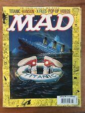 MAD Magazine #369 May 1998 Titanic Hanson X Files Pop-up Videos 20 Years Old!