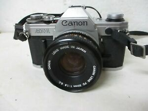 Canon AE-1 Program 35mm SLR Camera with 50mm f/1.8 Lens - NICE!